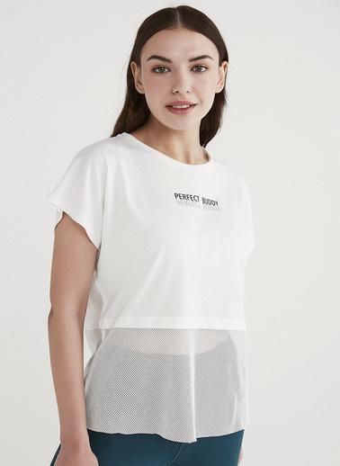 Penti Kadın Beyaz Mesh  Tişört PHCKZEIL21IY Beyaz